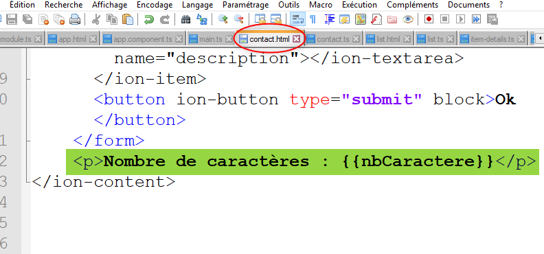 Lien entre  ts et  html avec Ionic - Tutowebdesign